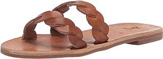 Frye Women's Azalea Braid Slide Sandal, Tobacco, 8