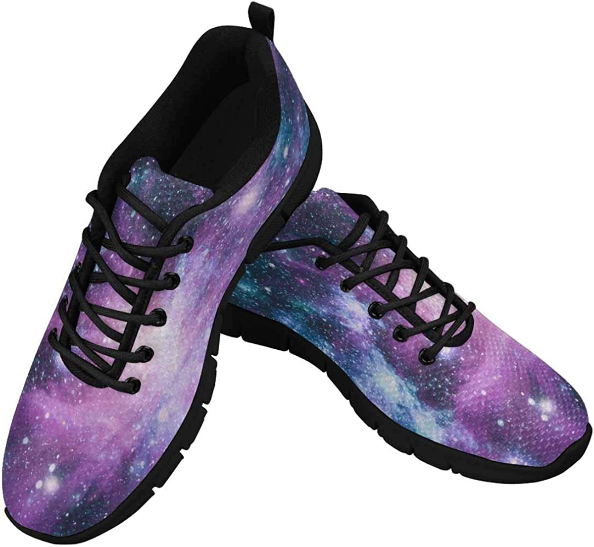 InterestPrint Galaxy Universe Nebula Pattern Women's Athletic Walking Shoes Breathe Comfort Mesh