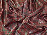 Minerva Crafts Baumwollstoff, kariert, Meterware, Rot/Grün