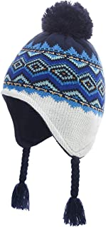 ERISO Baby Knit Hat with Earflap- Warm Winter Beanie for Toddler Boys Girl