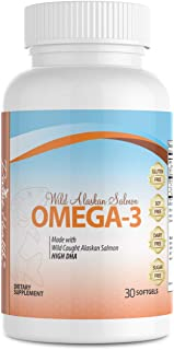 Dr.Colbert's Wild Alaskan Salmon Omega-3 Containing Natural Sources of Omega-3, DHA & EPA - Formulated by Dr. Don Colbert