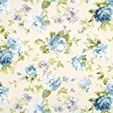 Fabulous Fabrics Halbpanama wollweiß, Blume, 140cm breit