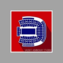 ArtsyCanvas Ole Miss Rebels - Vaught-Hemingway Stadium (36x36 Poster),