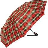 Knirps T1 - Paraguas automático, muy resistente rojo cuadros rojo 97