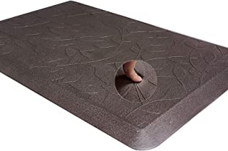 """Carvapet Comfort Floor Mat for Kitchen Anti Fatigue 3/4"""" Thick Standing Desk Mat for Office,20"""" x 30"""",Coffee Leaves"""