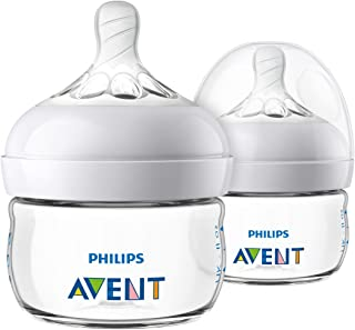 Philips Avent Natural Baby Bottle, Clear, 2oz, 2pk,...