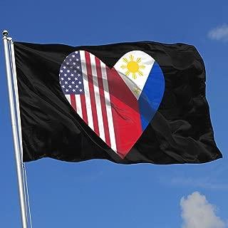 CERTONGCXTS Little Boys Filipino American Hearts ComfortSoft Long Sleeve Tee