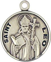 HMHReligiousMfg Sterling Silver Catholic Patron Saint Round Medal Pendant, 7/8 Inch
