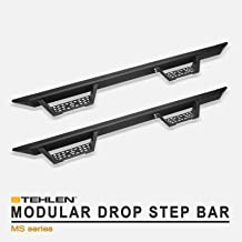 Stehlen 733469494430 Modular Drop Step Side Nerf Bars Rail Running Boards - Matte Black For 01-04 Toyota Tacoma Double (Crew) Cab