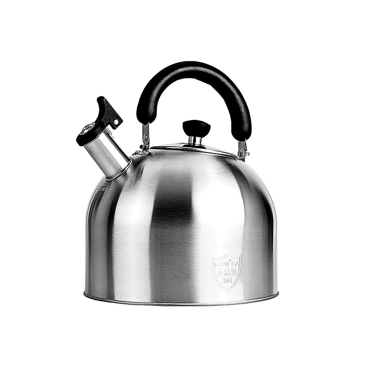 XIAONINGMENG Large-capacity Kettle, 304 Stainless Steel Kettle, Automatic Sounding Kettle, Gas Cooker Universal, 3~6L (Capacity : 6l)
