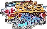 Graffiti Kunst Abstrakt Wandtattoo Wandsticker Wandaufkleber C0487 Größe 70 cm x 110 cm