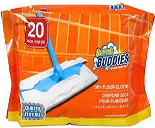 Scrub Buddies Dry Floor Cleaning Cloths, 20-ct. Packs