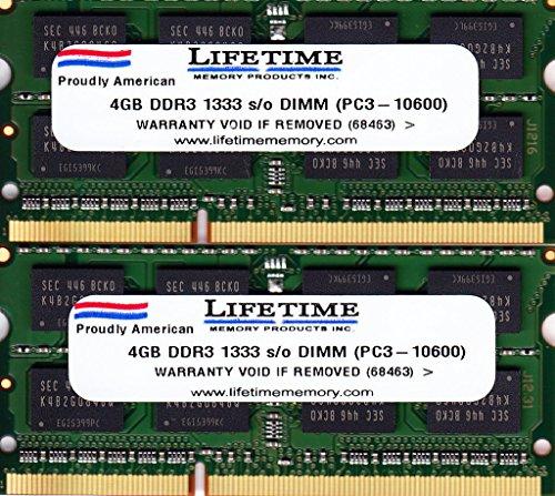 8GB RAM Kit (2x4GB) Samsung DDR3 1333mhz SODIMM Notebook Memory Laptop PC3-10600s M471B5273DH0-CH9