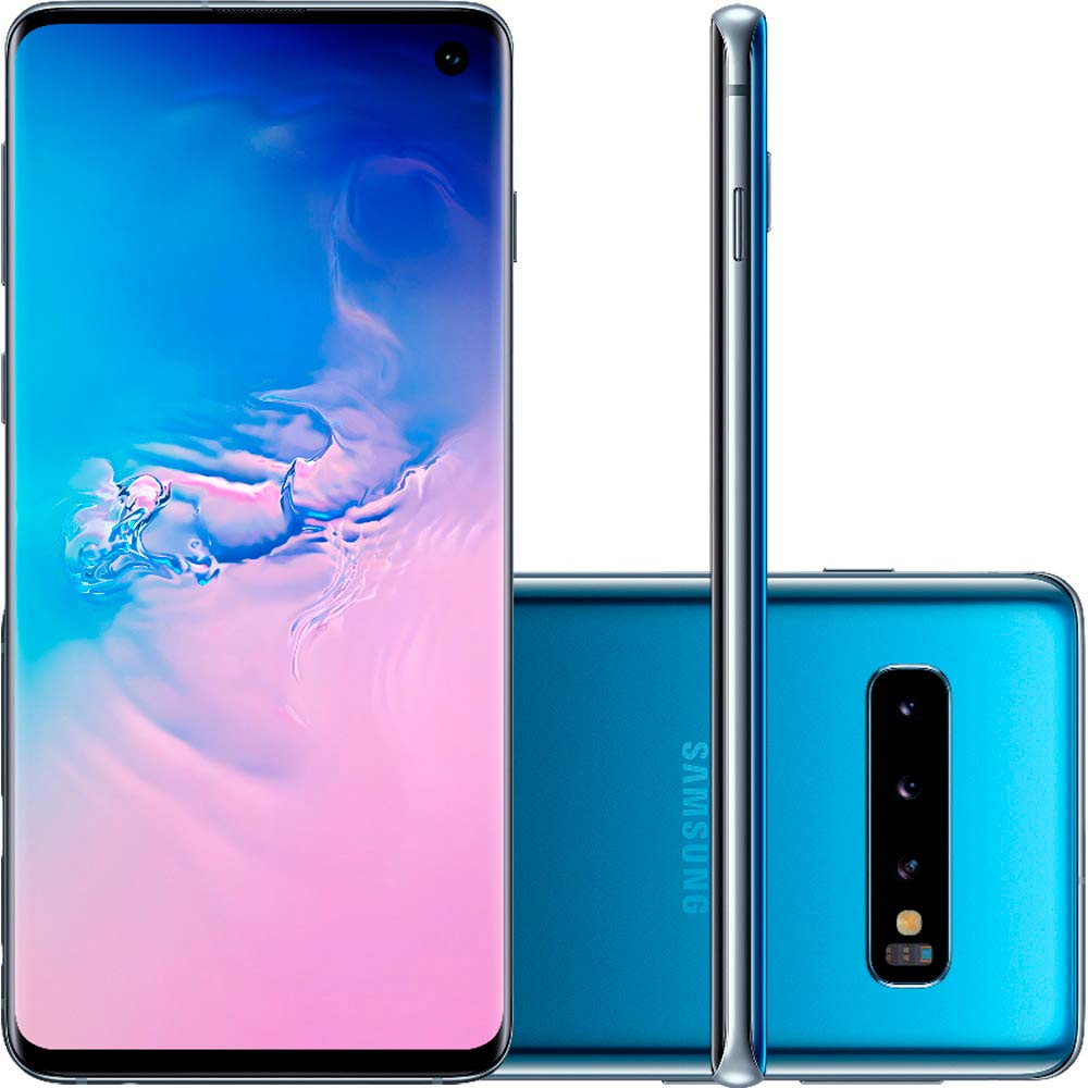 "Samsung Galaxy S10 128GB+8GB RAM SM-G973F/DS Dual Sim 6.1"" LTE Factory Unlocked Smartphone (International Model No Warrant..."
