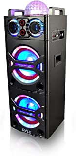Pyle PSUFM1043BT Bluetooth PA Loudspeaker Karaoke Entertainment System, Wireless Mic