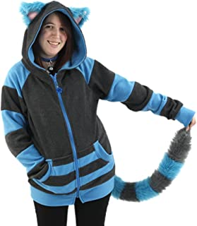 Cheshire Cat Hoodie and Furry Tail Combo Deal