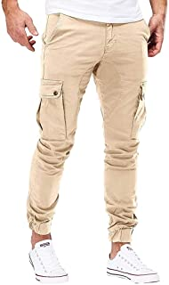 desolateness Men's Autumn Fashion Casual Cargo Pant Relaxed Fit Military Pants