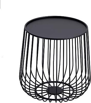 marque Zons Lot de 2 Tables /à caf/é gigognes m/étal Noir