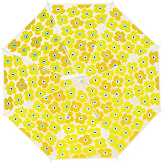 Crutches Umbrellas Umbrellas Curved Handles Transparent Long Handle Umbrella Portable Umbrella, A Variety of Optional Gaozs (Color : Yellow)