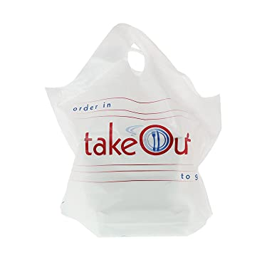 Royal Wave Top to Go Plastic Bag, 19 Inch x 19 Inch x 9.5 Inch, 30 Mic, Package of 500
