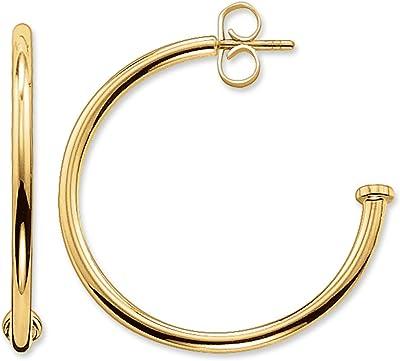 Thomas Sabo CR589 413-12 Orecchini a cerchio, in argento placcato oro, 25 mm, personalizzabili con pietre del karma abbinate