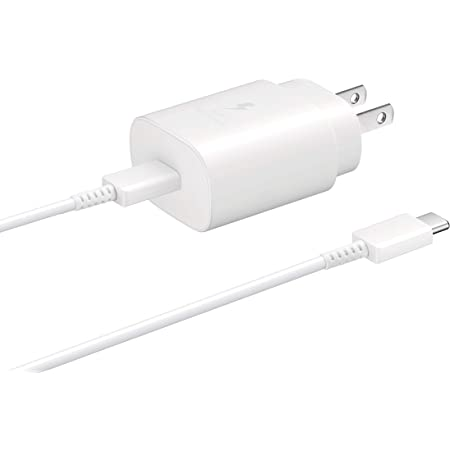 Samsung EP-TA800XWEGUS 25W USB-C Super Fast Charging Wall Charger - White (US Version with Warranty)