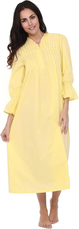 Del Rossa Women's Romeo and Juliet Cotton Nightgown, Bell Sleeve Victorian Sleepwear