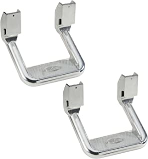 Bully AS-600 Universal Truck Polished Aluminum Side Hoop Step Set 2 Pieces Includes Mounting Brackets - Fits Various Trucks from Chevy (Chevrolet), Ford, Toyota, GMC, Dodge RAM and Jeep