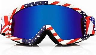 JHUA Adult Motorcycle Motocross Goggles Windproof UV OTG ATV Dirt Bike MX Offroad Racing glasses for Women Men