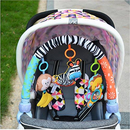 Singring Baby Arch Pram Crib Activity Cloth Animal Toy Pram Activity Bar...