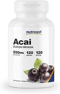 Nutricost Acai 550mg, 120 Capsules - Veggie Capsules, Non-GMO, Gluten Free