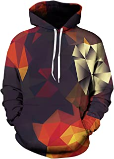 Imbry Men Women 3D Printed Hoodie Galaxy Animal Print Pullover Hooded Sweatshirt Funny Wolf Jumper