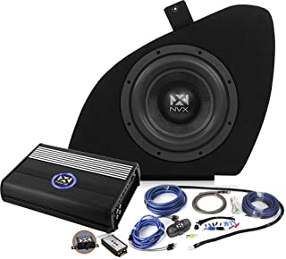 NVX B.O.O.S.T Series Powered Car Subwoofer Package w/Amplifier Kit for Tesla Model S [PBK-TSLAS-VCW104]