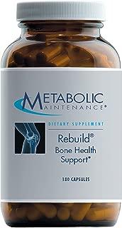 Metabolic Maintenance Rebuild - Bone Support Formula with Calcium, Vitamin D3 & K2, Zinc, Magnesium + Trace Minerals (180 Capsules)