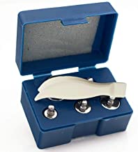 Yillsen Gram Calibration Weight, 6Pcs 5g 10g 2x20g 50g 100g Grams Precision Steel Calibration Weight Kit Set with Tweezers for Balance Scale