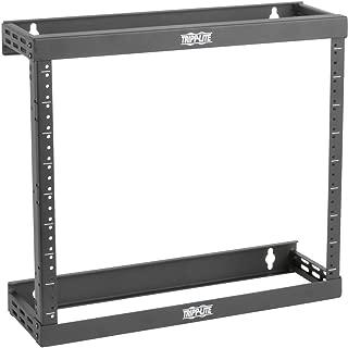 Tripp Lite 8U/12U/22U Expandable Wall-Mount 2-Post Open Frame Rack, Adjustable Network Equipment Rack, Patch Depth, 5.75
