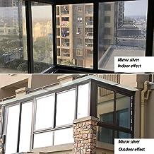 BJYX WindowFilms Window Sticker Glass Insulation Film One Way Perspective Bedroom Balcony Specular Reflection StaticClingFilm30×100 cm