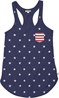 Women's American Flag Patriotic T Shirts - USA Tank Tops for Women