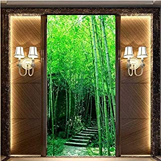 3D photo wallpaper Fresh bamboo forest 3D space expansion mural mystery map TV backdrop stereo wallpaper custom mural-330X...