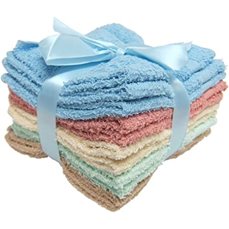 Amazon Com Main Street 11 Pack 100 Cotton Wash Cloths 4 Colors 12x12 Home Kitchen