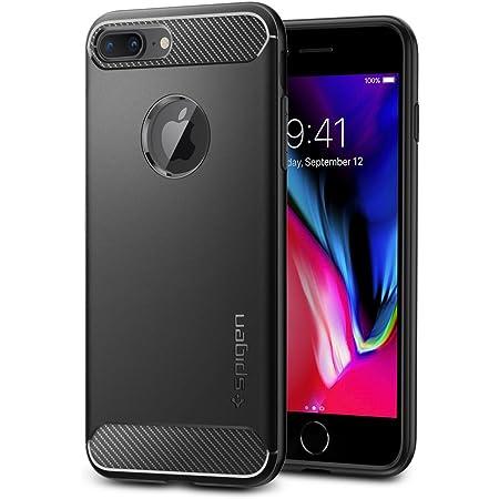 【Spigen】 iPhone8 Plus ケース / iPhone7 Plus ケース 対応 TPU 耐衝撃 米軍MIL規格取得 シュピゲン ラギッド・アーマー 043CS20485 (ブラック)