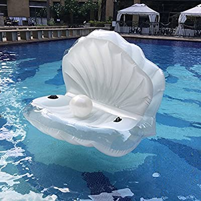 Swimming Pool Giant Shell Rideable Inflatable Float Toy Raft Mermaid Sea Shell Inflatable Pool Float