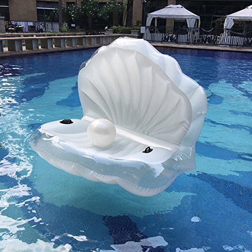 Best Price! Bk Swimming Pool Giant Shell Rideable Inflatable Float Toy Raft Mermaid Sea Shell Inflat...