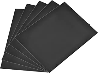 $29 » Sponsored Ad - uxcell A4 Plain Magnet Sheets for Crafts or Applying Adhesive Items 39 Mil Black 5pcs