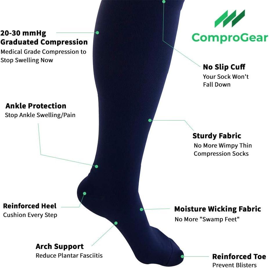 ComproGear wide calf compression socks