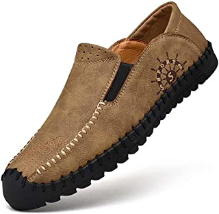 [hitstar] ドライビングシューズ メンズ 革靴 ビジネスシューズ カジュアル革靴 紳士靴 ウォーキング靴 軽量 履きやすい
