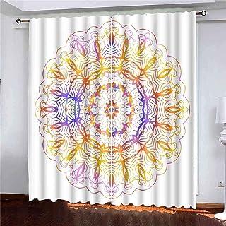 Rideaux 2 Panneaux Légende Ornement Ethnique Style Floral Impression Tissu Papier Scrapbooking Page Fantastique Mandala Li...
