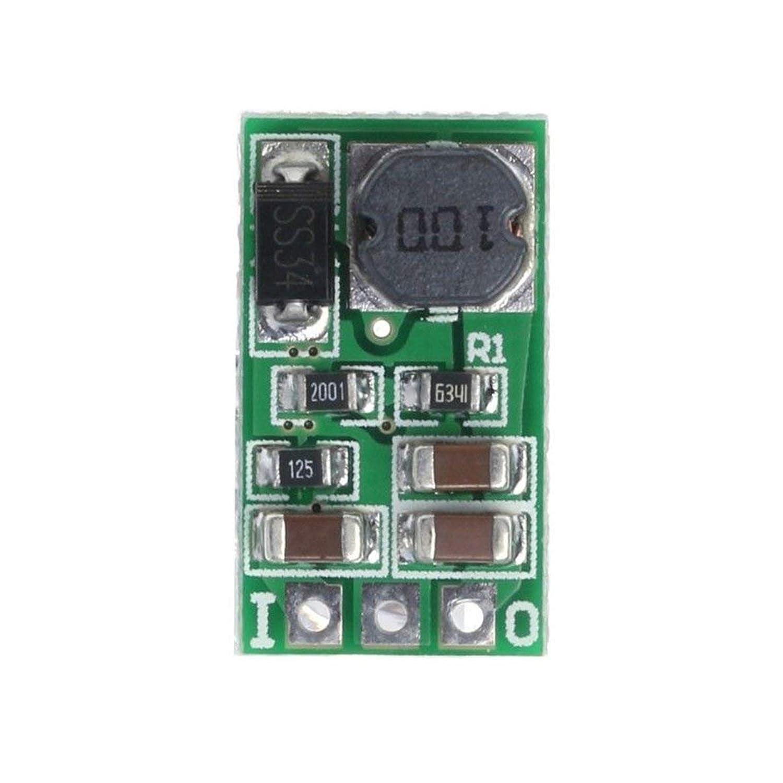 ミニ1A DC-DC降圧コンバータ?モジュール5?40V?3V 3.3V 3.7V 5V 6V 7.5V 9V 12V電源電圧レギュレータ(緑色7.5V)
