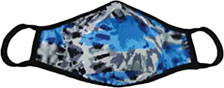 iscream Child's Tie Dye Blues Double Layer Face Cover with Pocket
