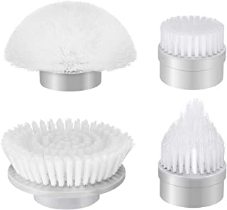 Homitt 4pcs Power Spin Scrubber Replacement Brush Heads, Electric Cordless Tub and Tile Scrubber Head Brushes for Bathroom, Floor, Wall and Kitchen